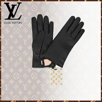 Louis Vuitton Blended Fabrics Leather Leather & Faux Leather Gloves