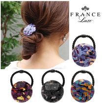 FRANCE Luxe Blended Fabrics Elegant Style Hair Accessories