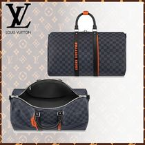 Louis Vuitton DAMIER COBALT Other Check Patterns Blended Fabrics 2WAY Leather