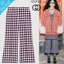 GUCCI Other Check Patterns Tweed Medium Culottes & Gaucho Pants