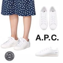 A.P.C. Casual Style Plain Low-Top Sneakers