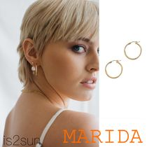 MARIDA Casual Style Street Style Silver 14K Gold