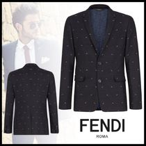 FENDI BAG BUGS Short Logo Blazers Jackets