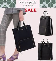 kate spade new york A4 2WAY Plain Office Style Backpacks