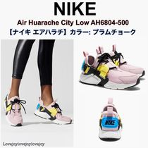 Nike AIR HUARACHE Casual Style Unisex Bi-color Low-Top Sneakers