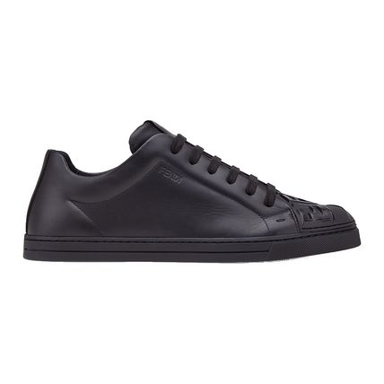 FENDI Sneakers Street Style Plain Leather Sneakers 2