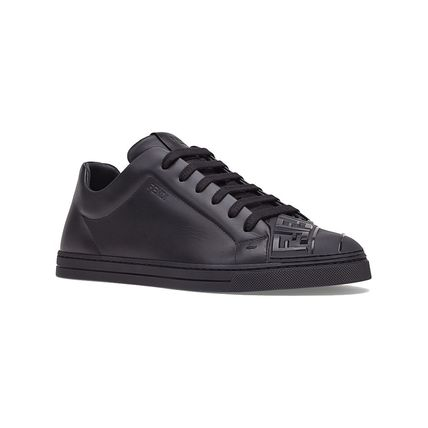 FENDI Sneakers Street Style Plain Leather Sneakers 3