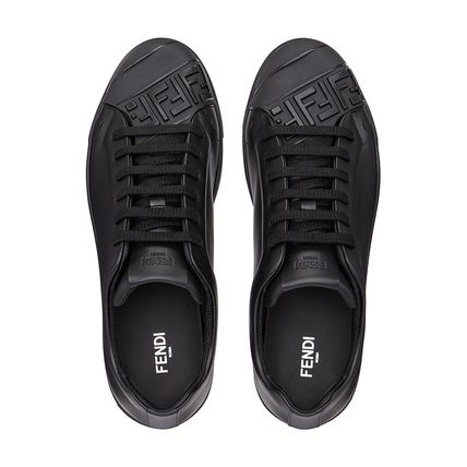 FENDI Sneakers Street Style Plain Leather Sneakers 5