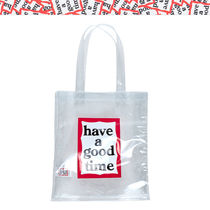 have a good time Unisex Street Style PVC Clothing Totes