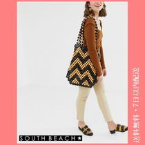 SOUTH BEACH Casual Style A4 Shoulder Bags