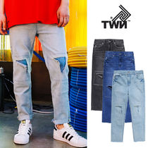 TWN Unisex Denim Street Style Plain Jeans & Denim