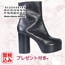 Maison Martin Margiela Tabi Plain Elegant Style Chunky Heels Ankle & Booties Boots