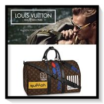 Louis Vuitton Monogram Canvas Blended Fabrics A4 Boston Bags