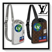 Louis Vuitton Monogram Unisex Canvas Blended Fabrics Bags