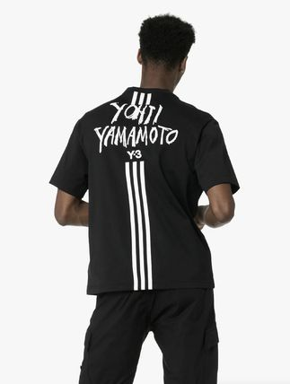 Y-3 More T-Shirts Unisex Street Style Cotton Logo T-Shirts 5