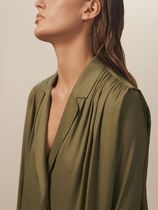 Massimo Dutti Long Sleeves Plain Shirts & Blouses