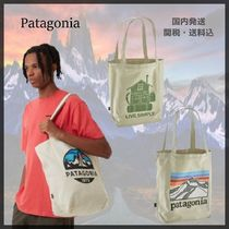 Patagonia Casual Style Unisex Canvas Street Style Totes