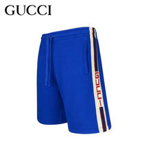 GUCCI Street Style Cotton Joggers Shorts
