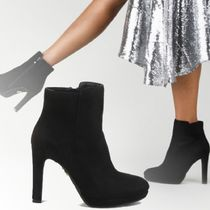 Buffalo LONDON Suede Plain Elegant Style Ankle & Booties Boots