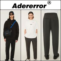 ADERERROR Unisex Wool Street Style Cropped & Capris Pants