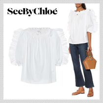 See by Chloe Plain Cotton Shirts & Blouses