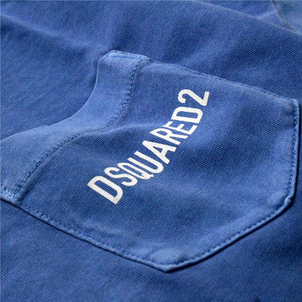 D SQUARED2 Crew Neck Crew Neck Cotton Short Sleeves Crew Neck T-Shirts 5