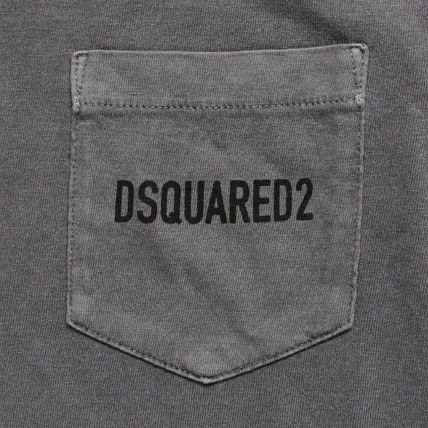 D SQUARED2 Crew Neck Crew Neck Cotton Short Sleeves Crew Neck T-Shirts 16