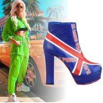Buffalo LONDON Platform Leather Elegant Style Ankle & Booties Boots