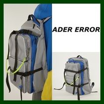 ADERERROR Casual Style Unisex Street Style Plain Backpacks