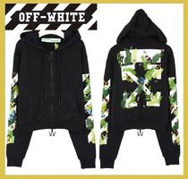 Off-White Unisex Street Style Long Sleeves Cotton