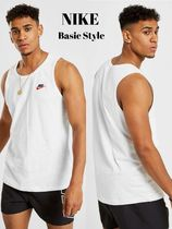 Nike Unisex Street Style Plain Cotton Tanks