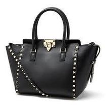 VALENTINO Calfskin Studded Street Style 2WAY Plain Office Style