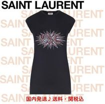 Saint Laurent Sweat Sleeveless Street Style Tanks & Camisoles
