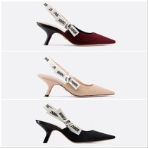 Christian Dior JADIOR Blended Fabrics Plain Pin Heels Party Style Elegant Style