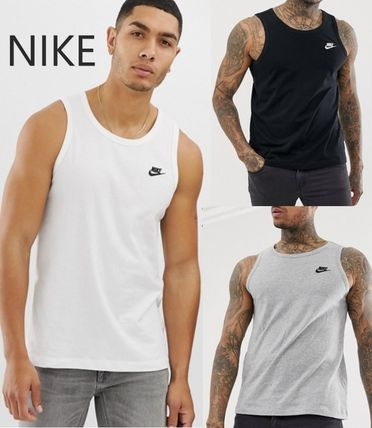 Nike Tanks Street Style Plain Cotton Tanks