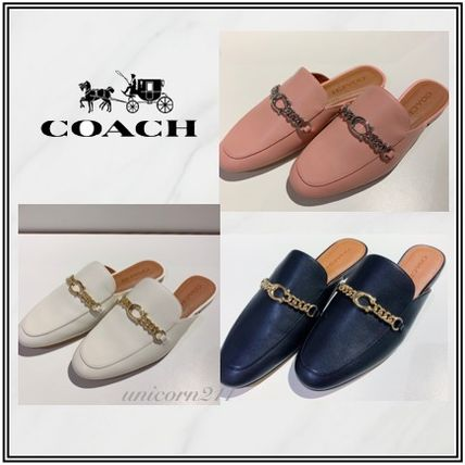 Casual Style Plain Leather Elegant Style Slippers Sandals