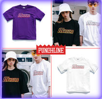 PUNCHLINE Unisex Street Style U-Neck Cotton Short Sleeves T-Shirts