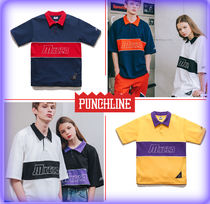 PUNCHLINE Unisex Street Style Cotton Short Sleeves Polos
