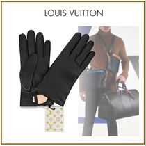 Louis Vuitton Blended Fabrics Street Style Plain Leather