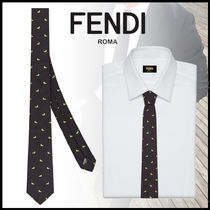 FENDI BAG BUGS Silk Ties