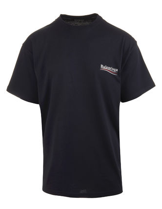 BALENCIAGA Crew Neck Crew Neck Unisex Street Style Cotton Short Sleeves 5