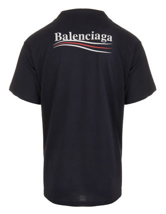 BALENCIAGA Crew Neck Crew Neck Unisex Street Style Cotton Short Sleeves 6