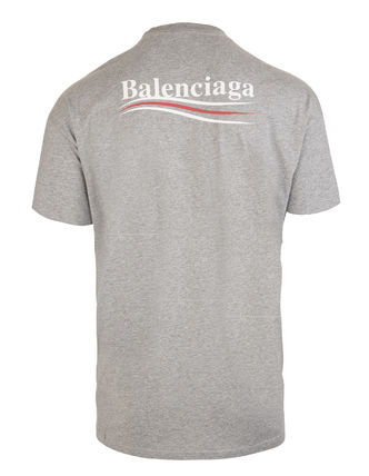 BALENCIAGA Crew Neck Crew Neck Unisex Street Style Cotton Short Sleeves 8