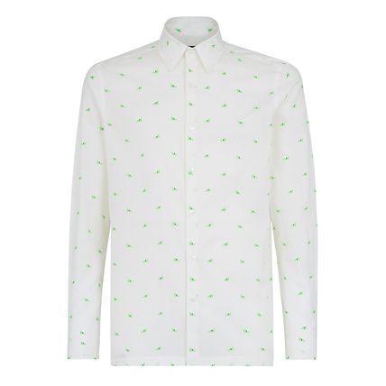 FENDI Shirts Button-down Long Sleeves Cotton Shirts 2