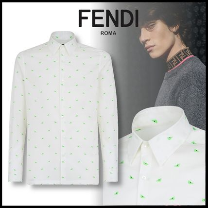 FENDI Shirts Button-down Long Sleeves Cotton Shirts