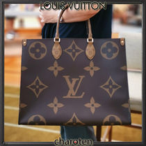 Louis Vuitton MONOGRAM Monogram Unisex Canvas A4 2WAY Bi-color Totes