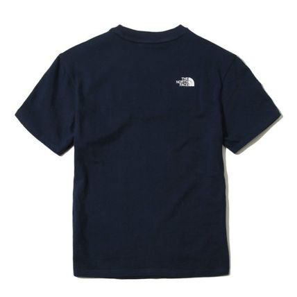 THE NORTH FACE Crew Neck Crew Neck Unisex Street Style Plain Cotton Short Sleeves 3