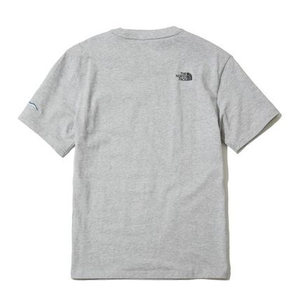 THE NORTH FACE Crew Neck Crew Neck Unisex Street Style Plain Cotton Short Sleeves 12