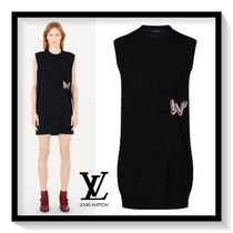 Louis Vuitton Crew Neck Short Casual Style A-line Wool Sleeveless Plain