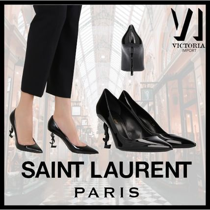 Saint Laurent OPYUM 2019 SS Plain Leather Pin Heels Party Style Stiletto Pumps & Mules (4841600NPVV1000)